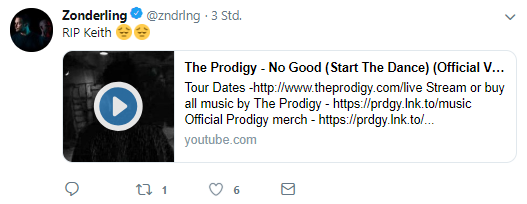 Zonderling Tweet zu The Prodigy