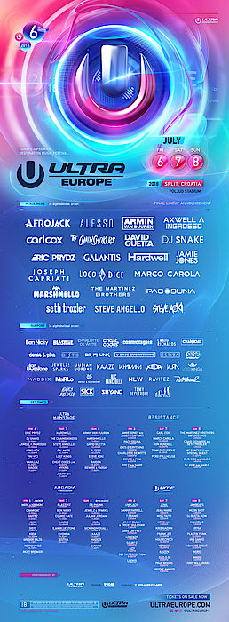 line up ultra europe