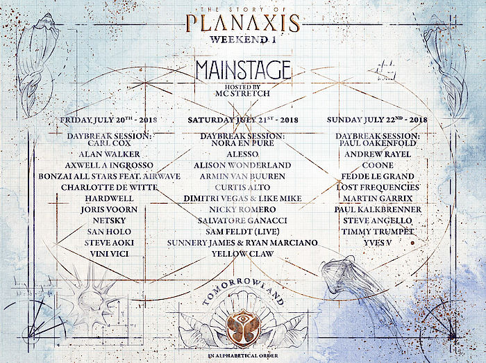 Tomorrowland 2018 MainStage Lineup WE1