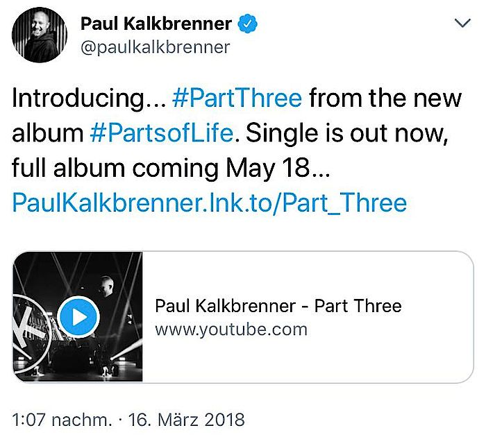 Paul Kalkbrenner Memories Tweet