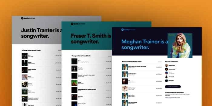 Songwriter Pages