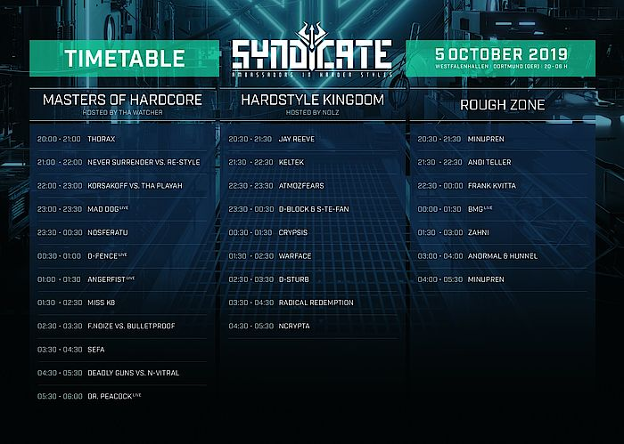 Syndicate Timetable
