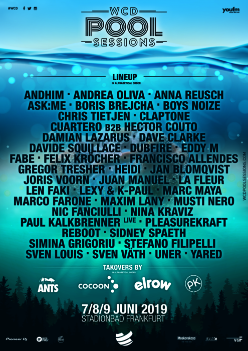 WCD Pool Sessions 2019 Full Line-Up